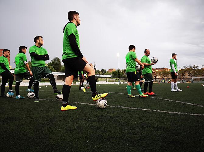 entrenament UE Balàfia futbol inclusiu