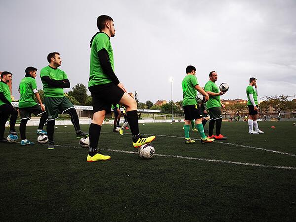UEBalafia B futbol inclusiu entrenament