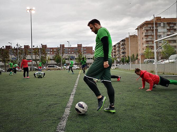 Entrenament UE Balafia futbol inclusiu