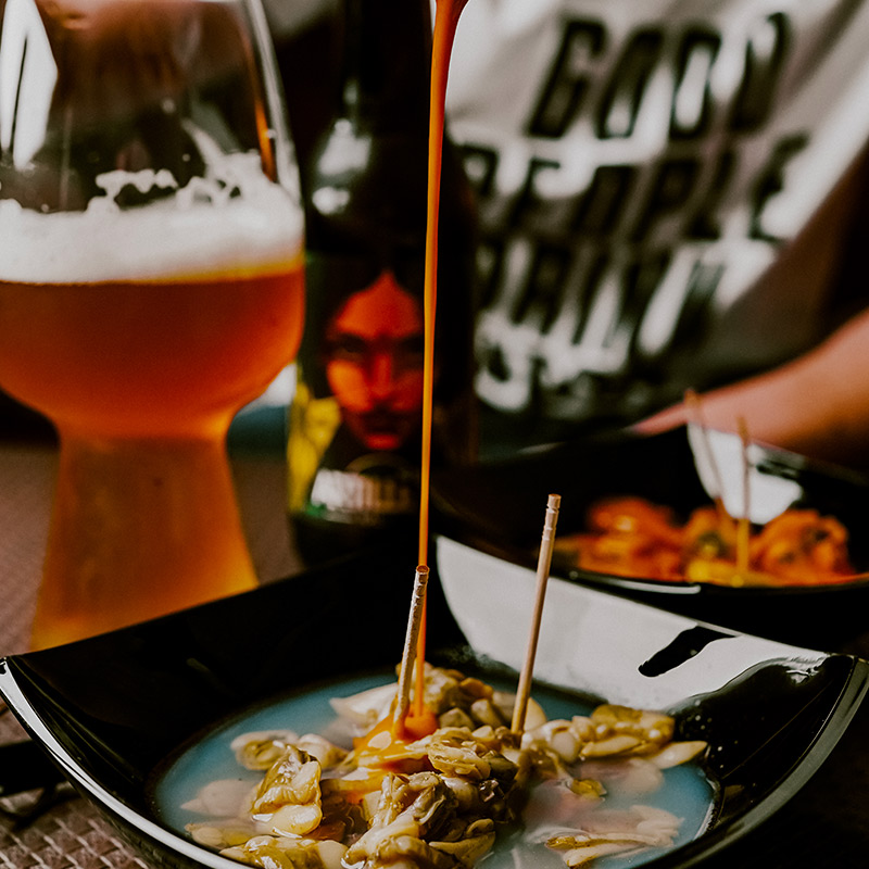 Pack cerveza Ipa + picoteo picante